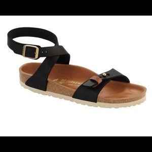 NWT, Birkenstock black ankle strap sandal, size 40